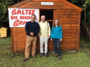 Andrew Cote, Micheál and Aoife Mac Giolla Coda, Galtee Honey Farm